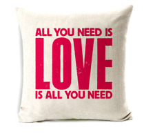NEW The Beatles All You Need Is Love Red Printed Cushion Cover Case Lounger Bed