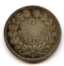 Gouvernement de Défense nationale (1870-1871) 2 Francs Cérès 1871 K Bordeaux