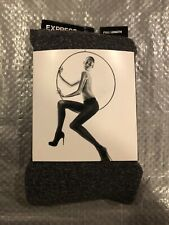 Express Women's Heather Grey Full Length Tights Size M/L
