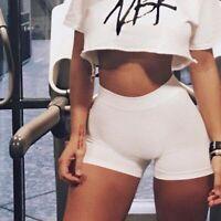 Women Summer Yoga Shorts Sport Gym Workout Compression Leggings Activewear