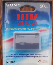 Sony Mgr-60 Micro Mv Camcorder Tape / Cassette With 64K Bits Memory Micromv