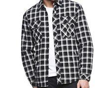 Boston Traders Flannel Lumberjack Jacket Shirt  Black Check Polar Fleece S New
