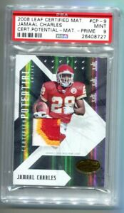 2008 Leaf Certified Materials Jamaal Charles RC Patch 22/25 PSA 9 MINT