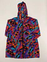 VTG Speedo Authentic Fitness Jacket Retro Color Block Women's S/P