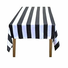 Lovemyfabric Cotton 2 Inch Black U0026 White Stripes Tablecloth ...