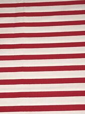 Fabric Stripes Red on White Cotton by the 1/4 Yard