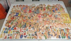 1000s All-Different 1930s-1940s Newspaper Paper Dolls Outfits w/ Shirley Temple