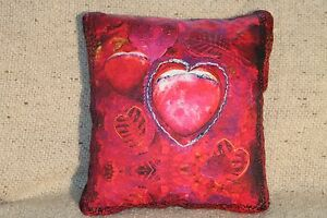 """Handmade/embellished """"Peaceful Heart"""" Square Lavender-Filled Sachets/Pillows"""