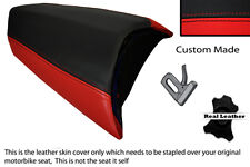 BLACK & RED CUSTOM FITS PEUGEOT JETFORCE 50 125 REAR LEATHER SEAT COVER