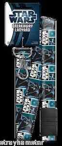 DARTH VADER LANYARD breakaway key chain ID Authentic STAR WARS Collectible