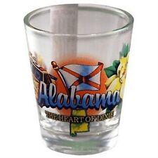 Alabama Heart Of Dixie State Elements Shot Glass Shotglass