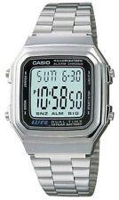 Casio Metal Digital Chronograph Watch, Alarm, Silvertone Band, A178WA-1AV