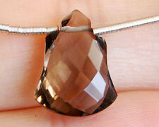AAA Smoky Quartz Faceted Bell Briolette Semi Precious Gemstone Bead