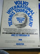 RRDN     VOLVO INTERNATIONAL  TENNIS TOURNAMENT POSTER  AUTOGRAPHED: 21 PLAYERS