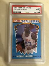 Michael Jordan 1990 Fleer All Star #5 PSA 9 MINT Chicago Bulls HOF