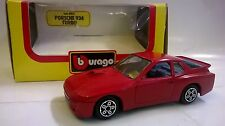 BURAGO 1:43 DIE CAST MADE IN ITALY PORSCHE 924 TURBO ROSSO ART 4103