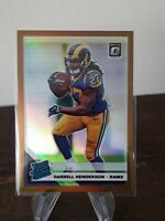 DARRELL HENDERSON - 2019 Optic Bronze Prizm Rated Rookie #160 Rams!! MINT!
