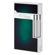 ST DUPONT ATELIER LINGE 2 LINE 2 LIMITED EDITION PALLADIUM LIGHTER GREEN LACQUER