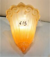Antique Art Deco Glass single Slip Shade for Sconce Chandelier wall fixtures
