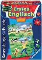 """Ravensburger Erstes ENGLISCH """"mein erstes Schulpuzzle"""" 80 Teile Vorschule ab 5"""