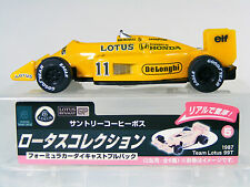 Team Lotus Honda 99T 1987 #11 S. Nakajima Formula 1 Racing Car with box NFS