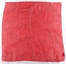 "N.Y. & Co. Ladies Polyester Scarf 20.5"" X 20.5 Red Geometric"