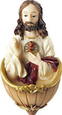 SACRED HEART OF JESUS HOLY WATER FONT - STATUES PICTURES CANDLES ARE ALSO LISTED