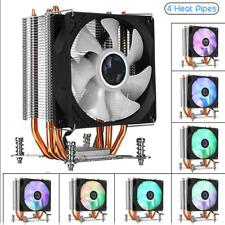 Heatsink CPU Cooler W/ LED RGB Cooling Fan 4 Heatpipe 3 Pin For Intel LGA 2011