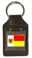 Leather Keyring  Engraved Apeldoorn City Netherlands Flag