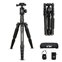 KIWI Portable Pro Tripod Monopod &Ball Head Compact Travel for DSLR Video Camera