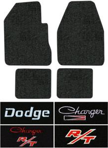 1966-1970 Dodge Charger Floor Mats - 4pc - Loop   Fits: 4spd