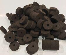 "Cork Rings 100 Superior Burnt Burl 1 1/4"" X 1/2 ""X1/4"", Solid Dark Color!"