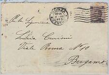 53926  - ITALIA REGNO - Storia Postale: Sass  140 ISOLATO  su BUSTA  1923