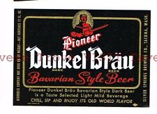 Dunkel Bräu Bavarian Style Beer 11oz Silver Springs Brewing Co Tacoma WASH type