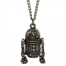 Molded Metal Necklace Pendant New Authentic Star Wars R2-D2 3D