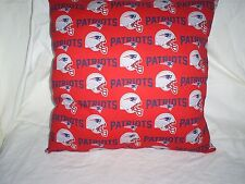 "17""x17"" Handmade Throw Pillow Made w/Patriots Cotton Print Front w/Navy Back"