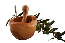 Mortier rustique 14 cm et pilon bois d'olivier 314 Mortar and pestle olive wood