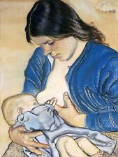 PAINTING WYSPIANSKI MOTHERHOOD BABY LARGE WALL ART PRINT POSTER PICTURE LF2253