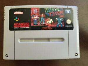 Super Nintendo SNES - Rival Turf Tested & Working