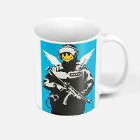 Mug Céramique Banksy Angel Cop Flying Copper Police Smiley Ange