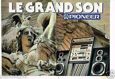 Publicité advertising 1980 (2 pages) La Chaine Hi-Fi Pioneer
