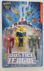JUSTICE LEAGUE UNLIMTED THE FLASH DR. FATE GREEN ARROW THREE PACK