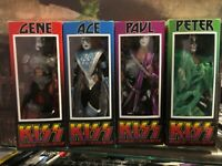 Custom Kiss Collection 8 inch retro action figures with Retro styled mego Boxes