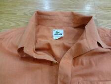 LACOSTE SHIRT Men's 44 Large Orange Button Down Shirt
