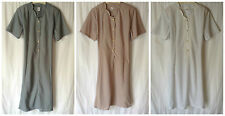 NEW ELDERLY LADIES PLUS SIZE 18 SHORT SLEEVE BUTTON FRONT OPENING DRESS*LAST 1*