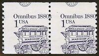 "2225 - 1c Huge Miscut and Misperf Error/EFO Coil Pair ""Omnibus"" Mint NH"