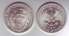 Silbermünze 5 DM 1967 F Humboldt stempelglanz