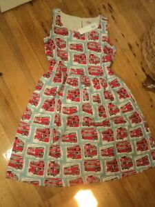cath kidston london buses cotton vintage style dress   nwt 78GBP uk10