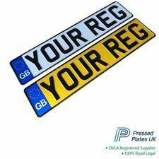 Pressed Car Registration Plates Metal Number Plate Embossed Reg GB UK Road Legal