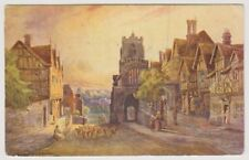 Warwickshire postcard - Warwick, West Gate - by Essenhigh Corke - P/U 1909